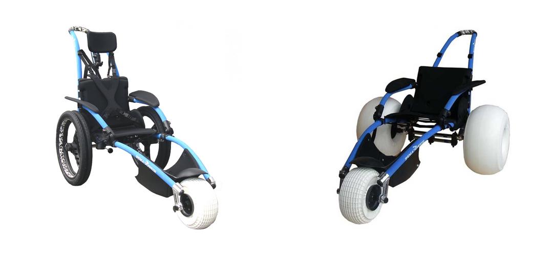 La silla de ruedas de playa todoterreno Hippocampe