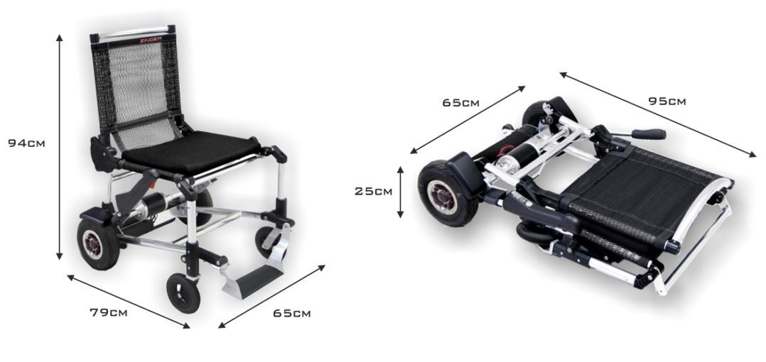 Silla de ruedas eléctrica plegable y ligera Zinger