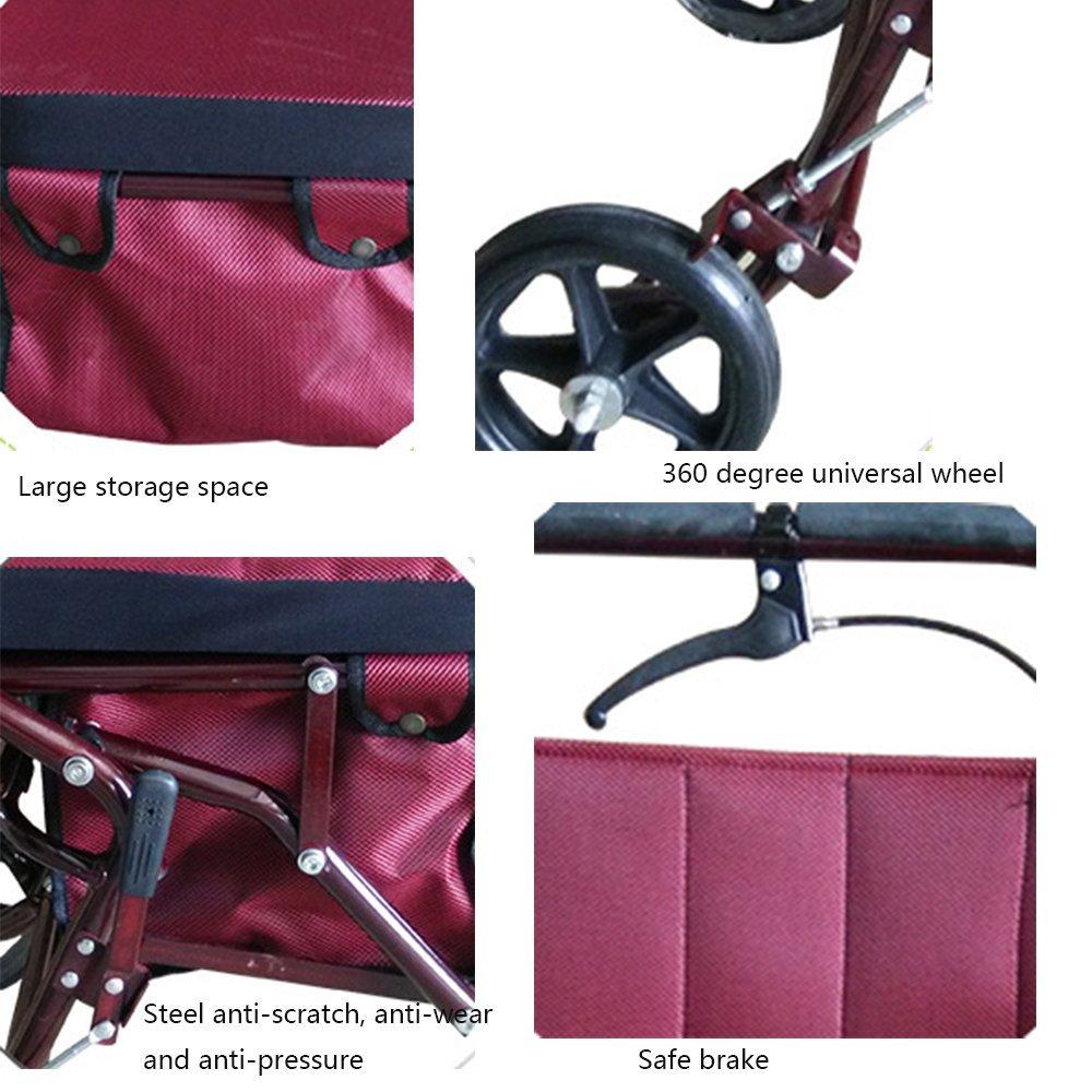 El andador Iron Rueda Walker Cart Red. Precio asequible y diseño
