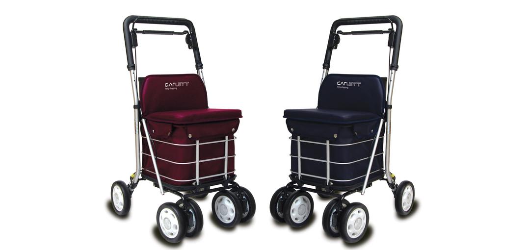 Andador y carro de la compra con asiento carlett lett800 for Coches con silla para carro