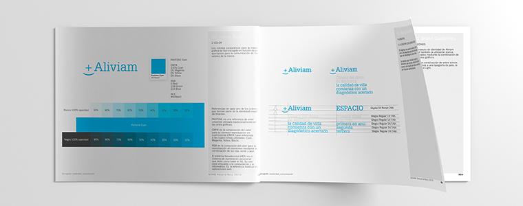 Manual de la marca Aliviam por Borisgrafic