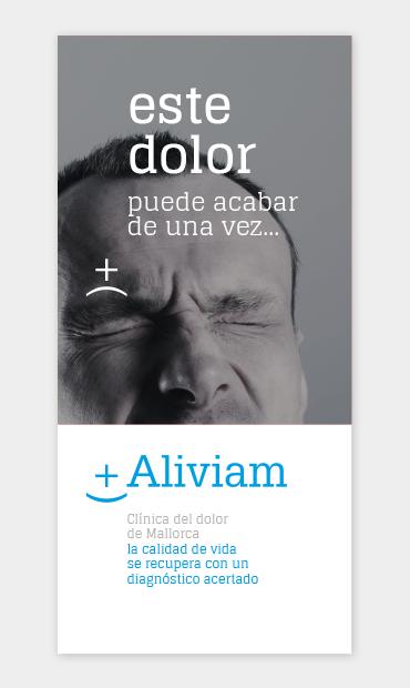 Folleto Aliviam sin dolor, por Borisgrafic