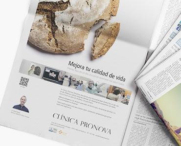 Anuncio de Clinica Pronova por Borisgrafic