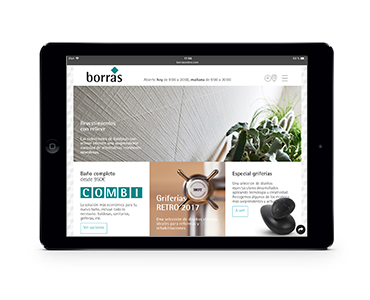 Web de Borras en tablet