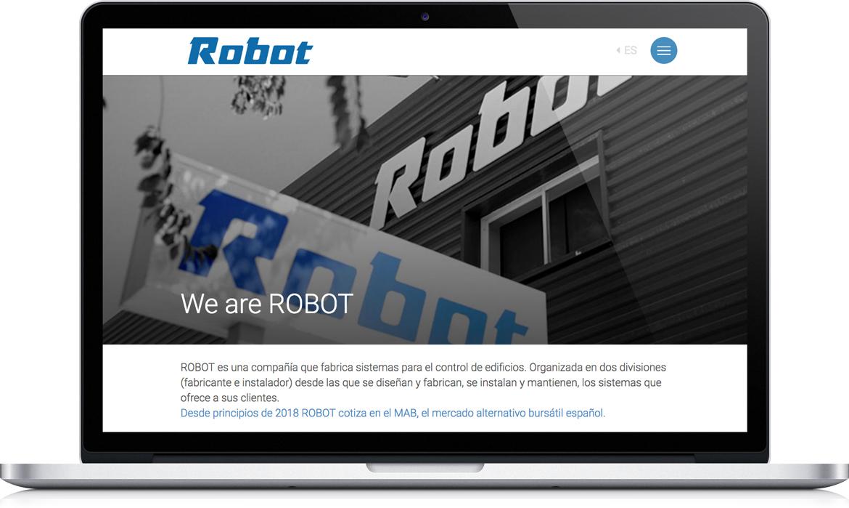Web Robot corporativo, la home