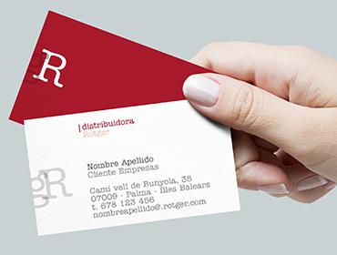 Tarjetas distribuidora Rotger