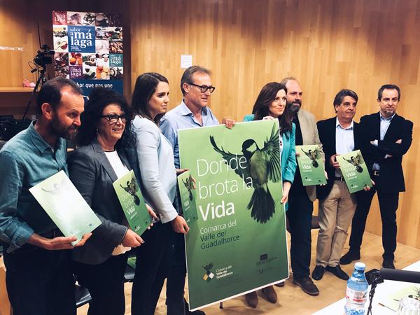 Presentación en linea del valle Guadalhorce en la diputación de Málaga