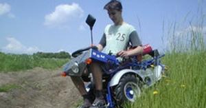 Silla de ruedas con motor gasolina BSM-olvo