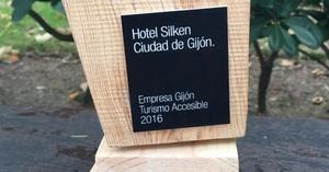 El hotel Silken premiado por Empresa de Gijón turismo accesible 2016