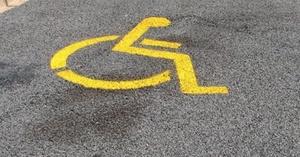 Plaza de aparcamiento accesibles