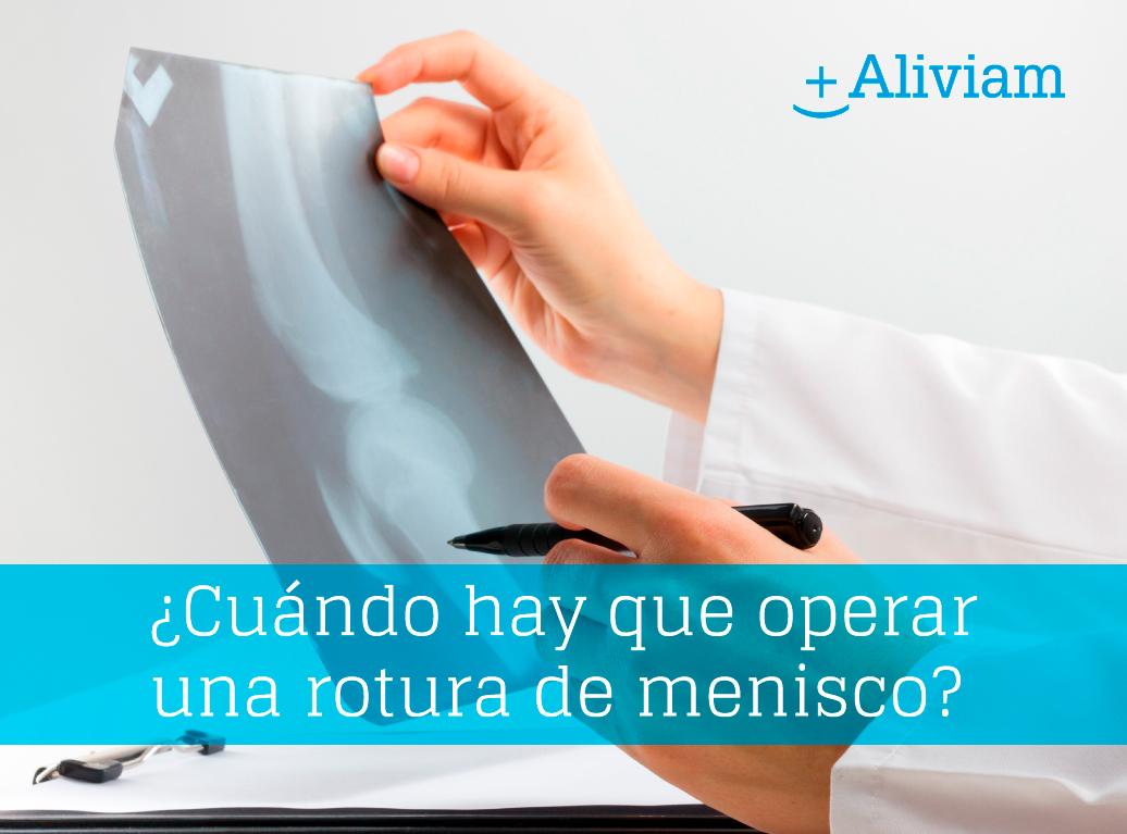 Rotura de menisco: ¿operación sí o no?